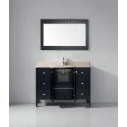 Lakeport 48-inch Espresso Beige Single Sink Vanity Set - Thumbnail 1
