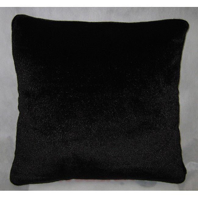 Shop Fuzzy Faux Fur 40x40 Decorative Pillow Free Shipping On Interesting Faux Leather Pillows Decorative Pillows