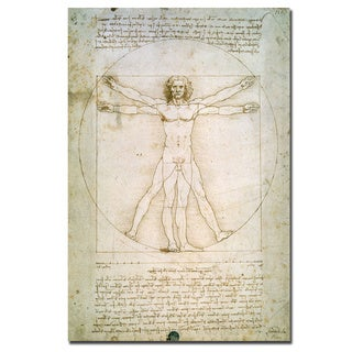 Leonardo da Vinci 'The Proportions of the Human Figure' Art