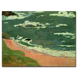 Paul Gaugin 'Beach at Le Pouldu 1889' Canvas Art
