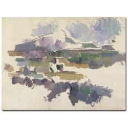 Paul Cezanne 'Montagne Sainte Victorie 1904' Landscape Canvas Art
