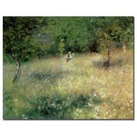 Pierre Auguste Renoir 'Spring at Catou 1872-5' Canvas Art
