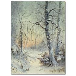 Joseph Farquharson 'Winter Breakfast' Gallery-Wrapped Canvas Art