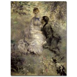 """Pierre Auguste Renoir 'The Lovers c.1875' 47"""" x 35"""" Canvas Art"""