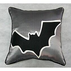 Creepy Bat Silhouette Throw Pillow