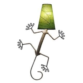Handmade Natural Gecko Wall Lamp (Philippines)