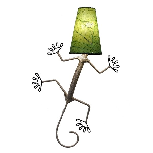 Handmade Gecko Wall Lamp