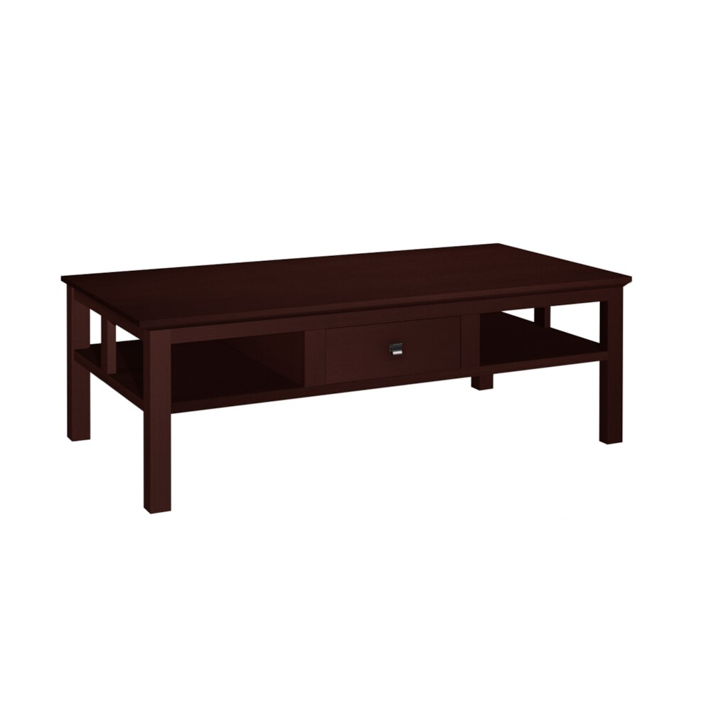Asian Style 1-drawer Wenge Finish Coffee Table