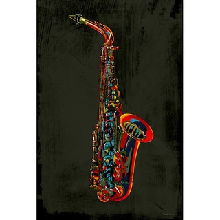 Maxwell Dickson 'Saxophone' Giclee Canvas Wall Art