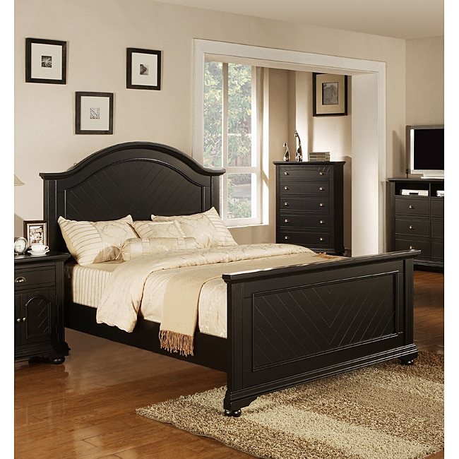 Picket House Addison Black Queen Panel Bed