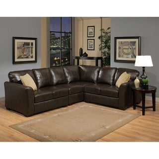 Abbyson Living Florence Premium Top-grain Leather Sectional