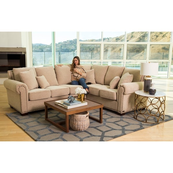 Abbyson Santa Barbara Beige Fabric Sectional