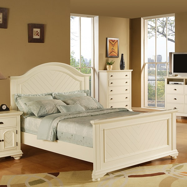 Picket House Furnishings Addison White King Panel Bed