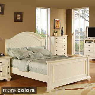 Picket House Napa White King-size Bed