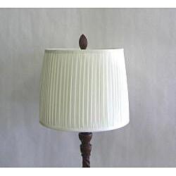 Transitional Burled Mahogany One-light Table Lamp