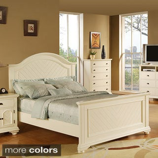 Picket House Napa White Queen-size Bed