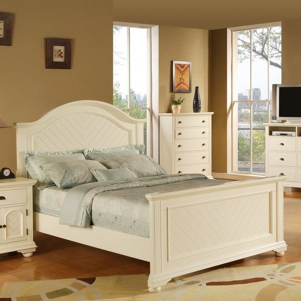 picket house furnishings addison white full panel bed
