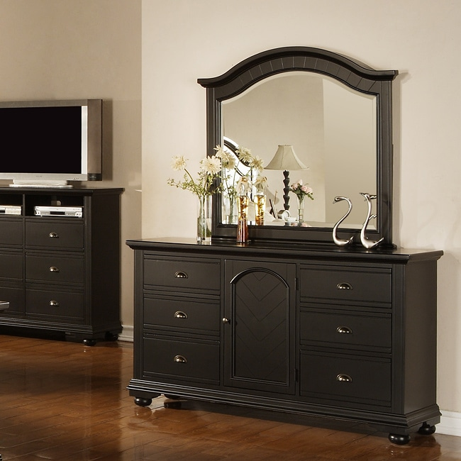 Picket House Napa Black Dresser and Mirror