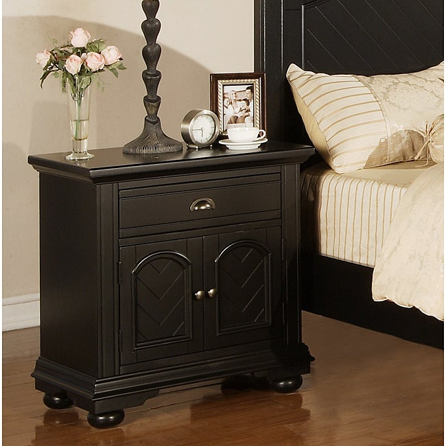 Picket House Addison Black Nightstand