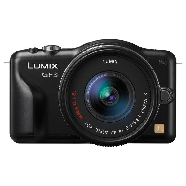 Panasonic Lumix DMC-GF3 12.1 Megapixel Mirrorless Camera with Lens -