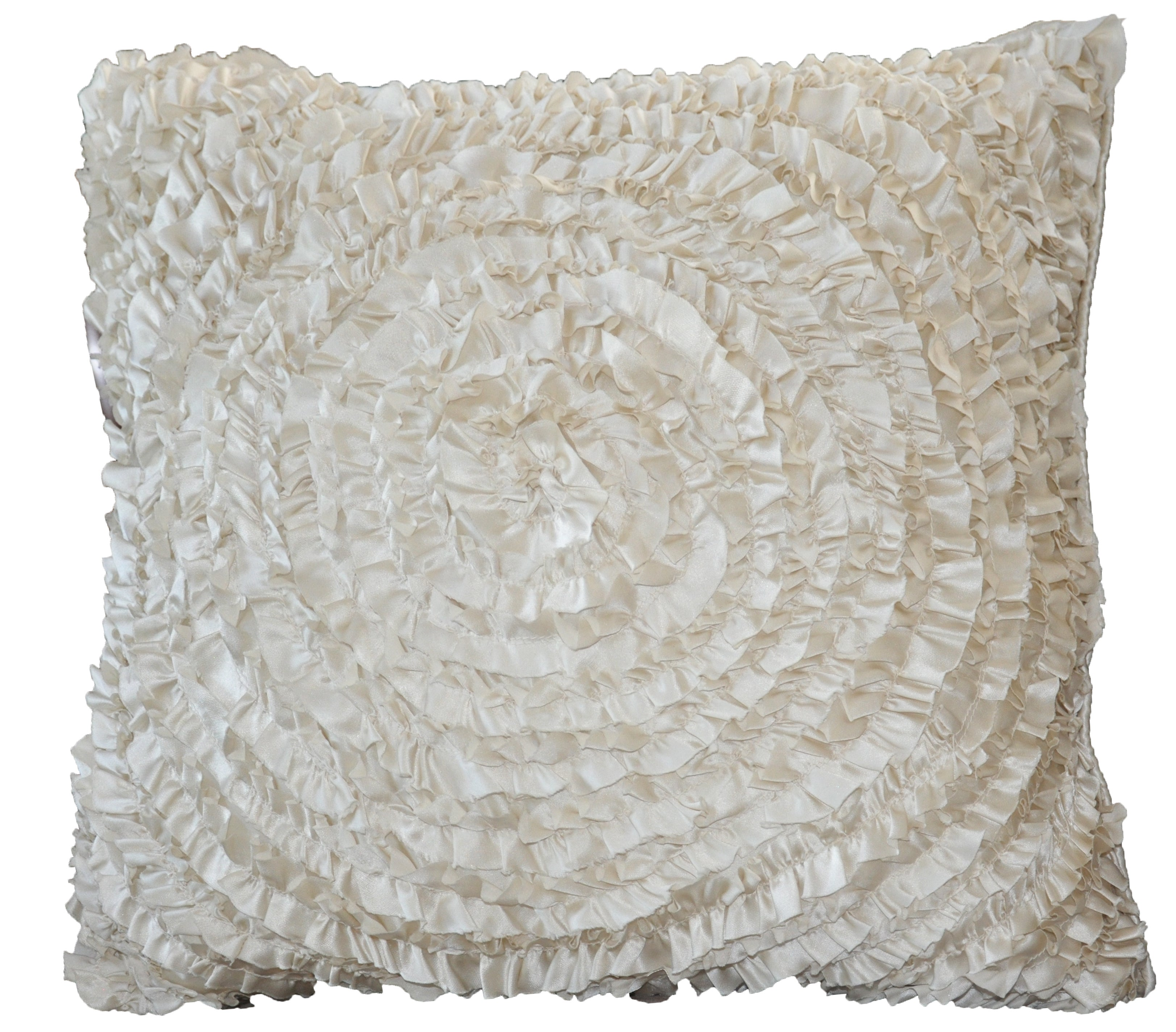 Throw Pillows With Ruffles : Victoria Dupioni Silk Ruffles Ivory Throw Pillow - Free Shipping Today - Overstock.com - 13943655