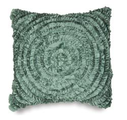 Victoria Dupioni Silk Teal Throw Pillow - Thumbnail 0