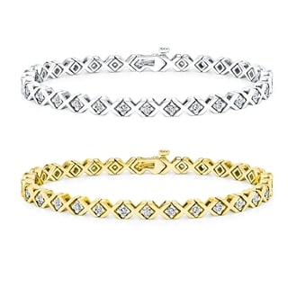 14k Gold 3 1/2ct TDW Diamond Tennis Bracelet