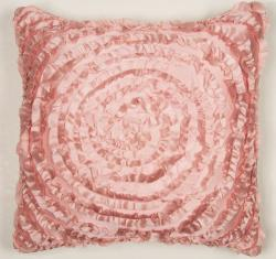 Victoria Dupioni Silk Pink Throw Pillow