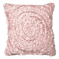 Victoria Dupioni Silk Pink Throw Pillow