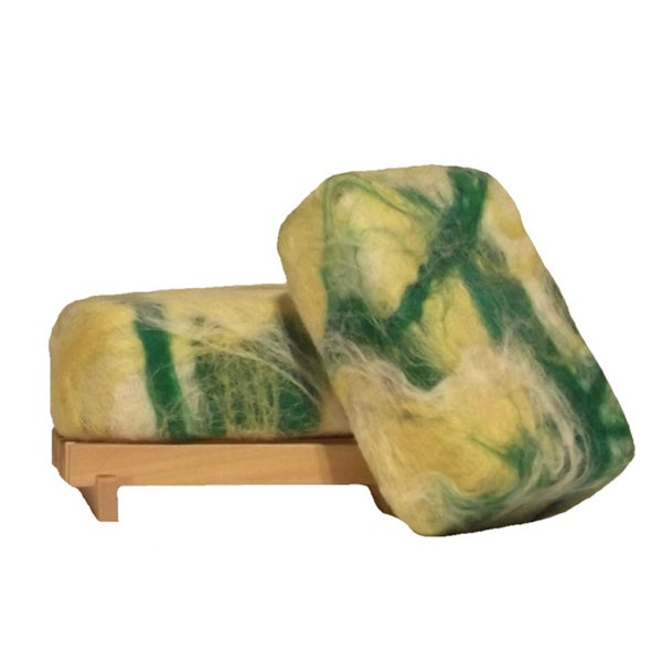 Softwater Soapworks Coconut Lime Verbena Felted Soap Bar