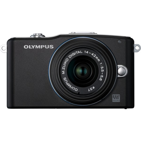Olympus PEN E-PM1 12.3 Megapixel Mirrorless Camera with Lens - 14 mm