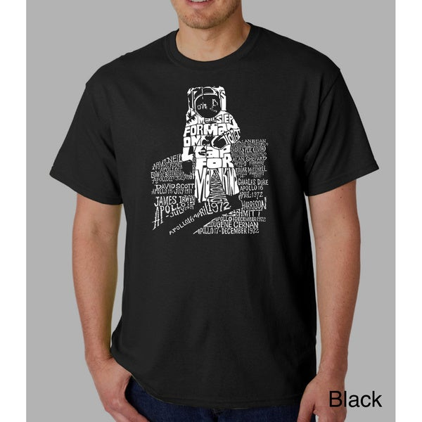 Los Angeles Pop Art Mens Astronaut T-shirt by  Best Choices