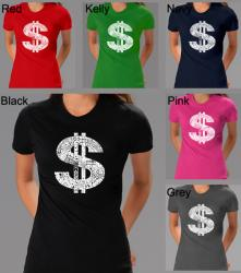 Los Angeles Pop Art Women's Dollar Sign T-shirt