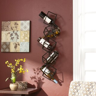 The Curated Nomad Sansome Stacking Cube Wall Mounted Wine Rack
