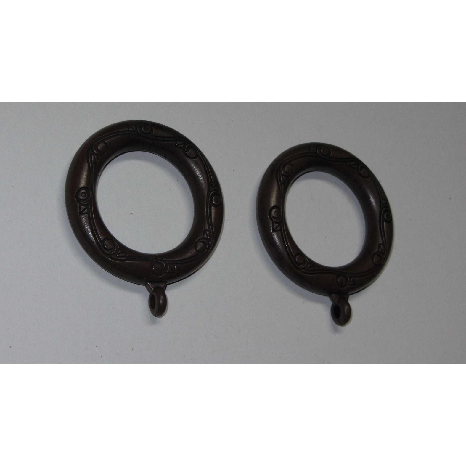 Arlo Blinds Black Mahogany Drapery Pole Rings (Set of 10)...
