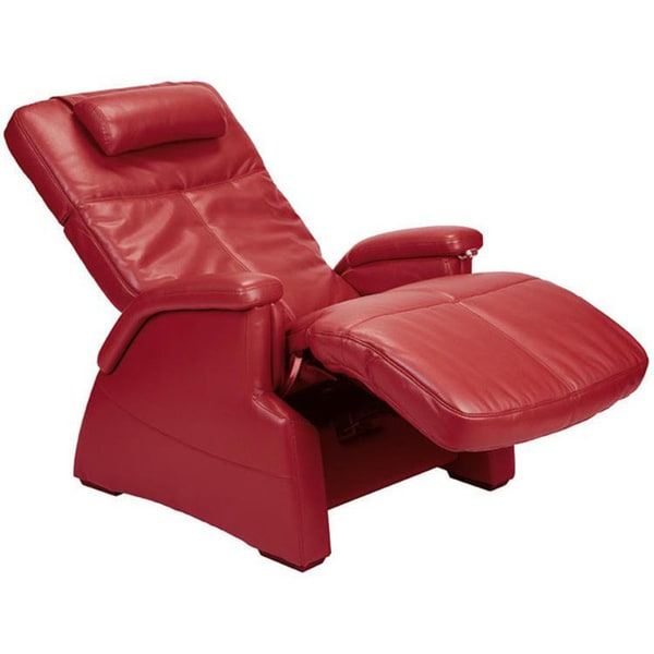 Perfect Chair Red Leather Zero Gravity Recliner Free