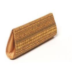 Hand-embroidered Two-tone Beaded Handbag (India)