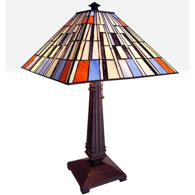 Tiffany-style Chloe Mission Design 2-light Table Lamp
