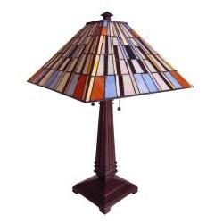 Tiffany-style Chloe Mission Design 2-light Table Lamp - Thumbnail 1