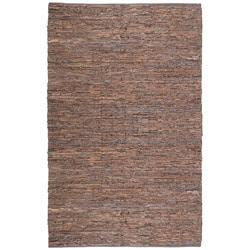 Handwoven Matador Brown Leather Area Rug (9' x 12')