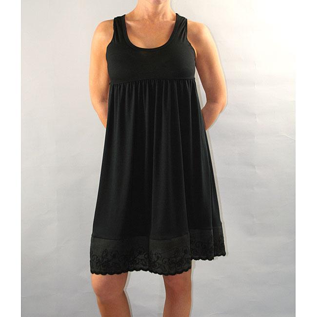 Institute Liberal Women's Black Empire Waist Dress