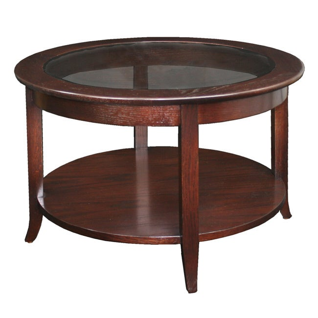 Shop Copper Grove Halesia Chocolate Bronze Round Coffee Table