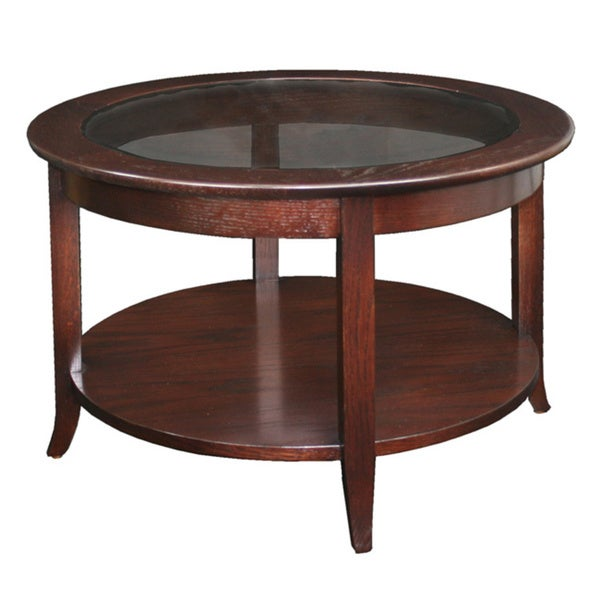 Laurel Creek Lydia Chocolate Bronze Round Coffee Table