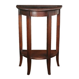 Solid Oak Chocolate Bronze Demilune Stand