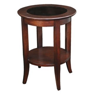 Laurel Creek Lydia Solid Oak Round Side Table