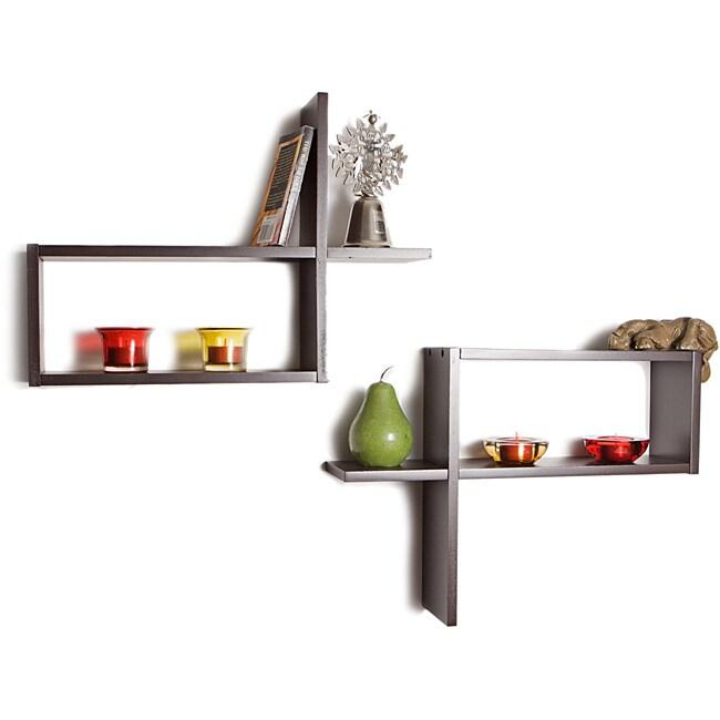 Reversed Rectangular Wall Shelf (Set of 2)