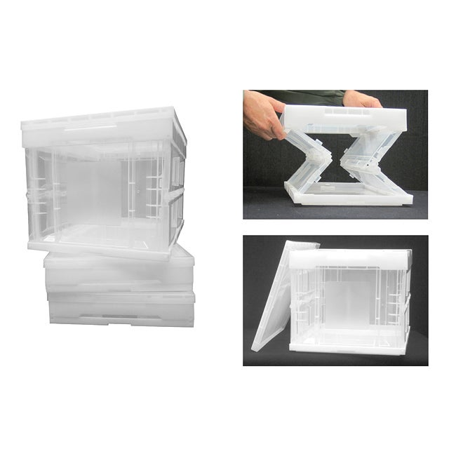 Trinity Large Clear Collapsible Crates (Pack of 3)