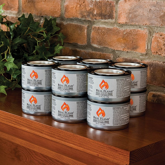 shop junior gel fuel 7 oz cans pack of 12 by real flame free rh overstock com