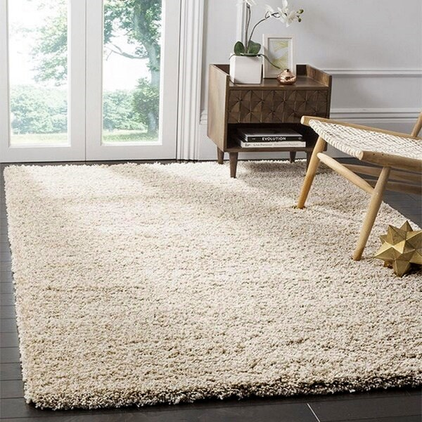 Safavieh California Cozy Plush Beige Shag Rug (6'7 x 9'6)