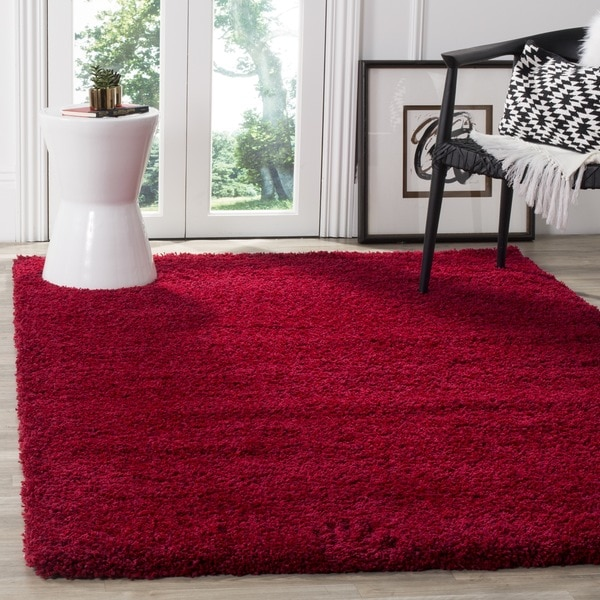 Safavieh California Cozy Plush Red Shag Rug - 3' x 5'